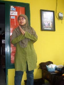 Rere bertugas membuka dan menutup halal bihalal sekaligus menyampaikan rencana agenda komunitas NPS